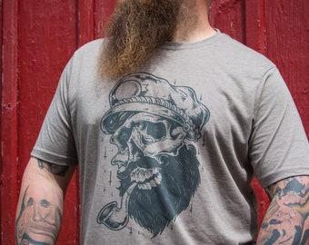 26f7fb03d7364f Mens Graphic Tee - Mens Skull Shirt - Beard T Shirt - Skull and Beard Shirt  - Skull Gifts - Gifts for Men - T Shirts for Men