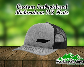 f7149d9c2aa Embroidered Richardson 112 snapback hats with any state embroidered lower  side of the hat Custom hats welcome wholesale embroidered hats