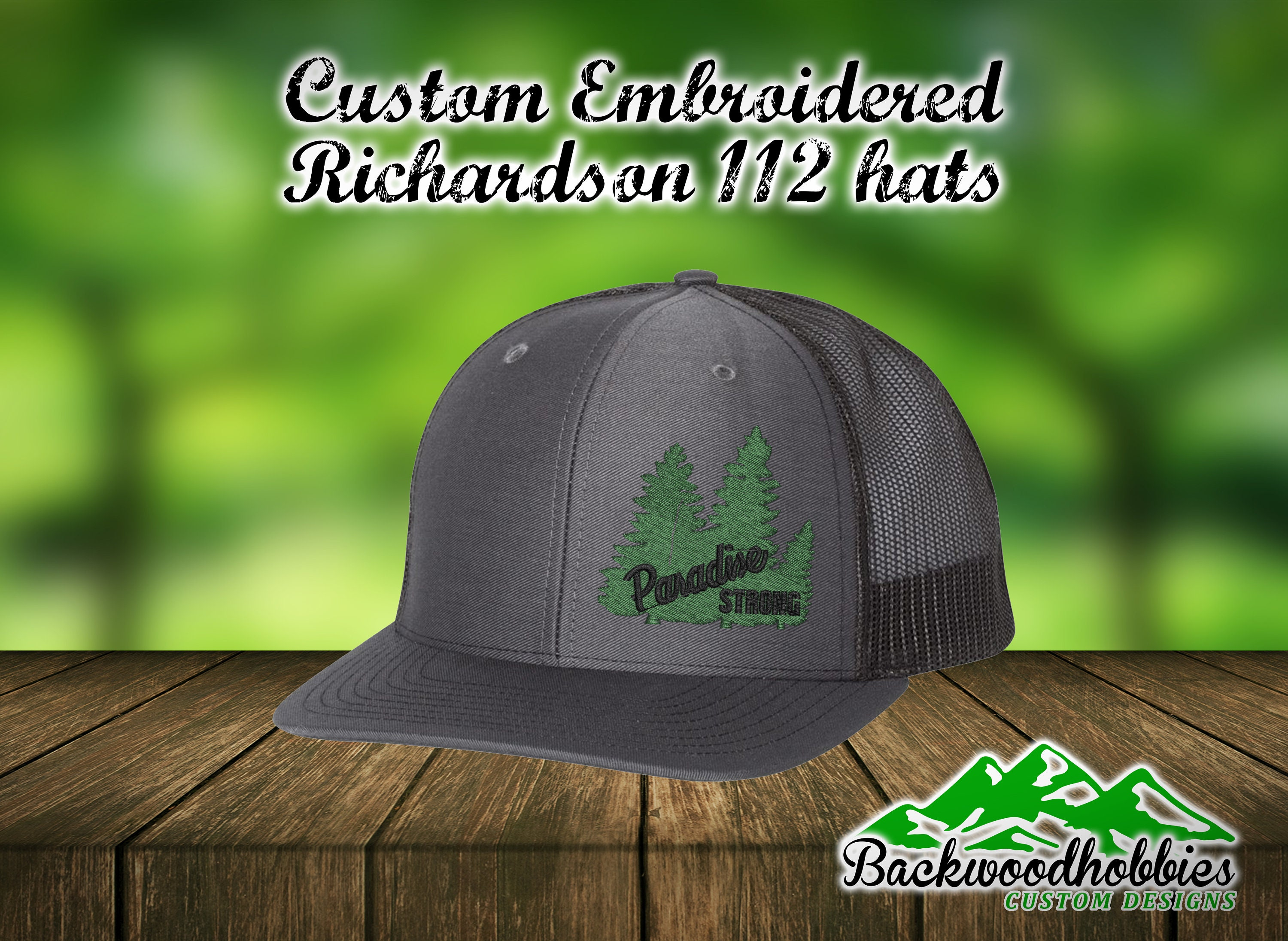 Custom embroidered Richardson 112 snapback hats with Parsdise  50be492d4e0