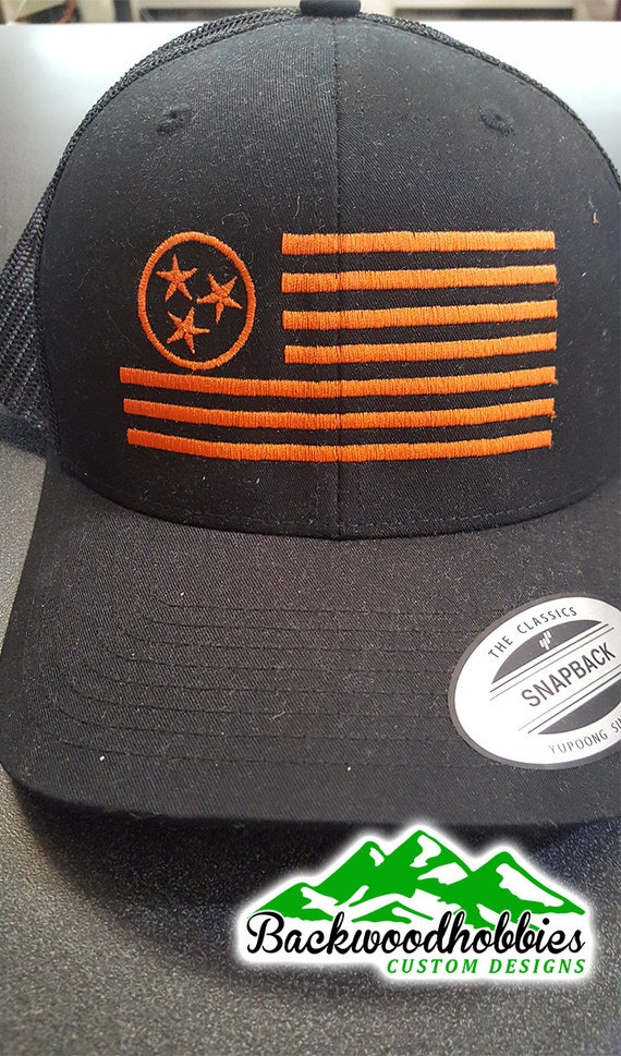 Embroidered Yupoong 6606 trucker hats with Tennessee Tristar  d03d8f96fb1