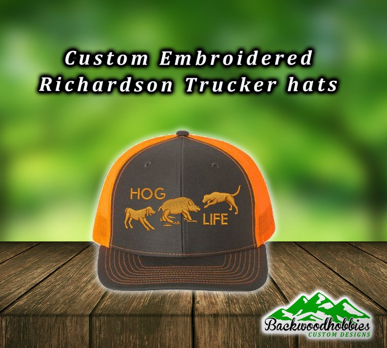 4ff19d1994980 Embroidered Richardson 112 Hog Life Hunting hat Custom hats