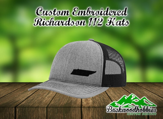 Embroidered Richardson 112 snapback hats with any state embroidered lower  side of the hat Custom hats welcome wholesale embroidered hats 1a7fde6deab