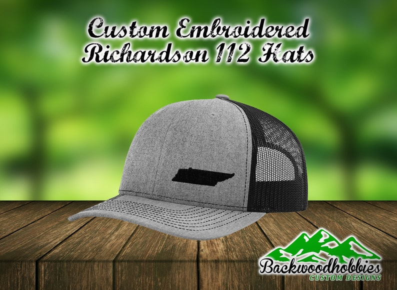 2a0e5dece9e1d Embroidered Richardson 112 snapback hats with any state