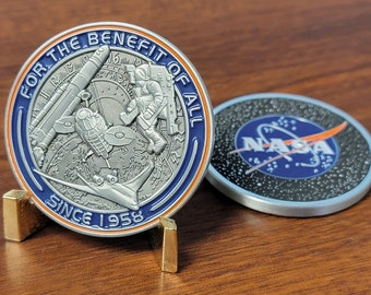 NASA Logo Challenge Coin - For the Benefit of All *New*