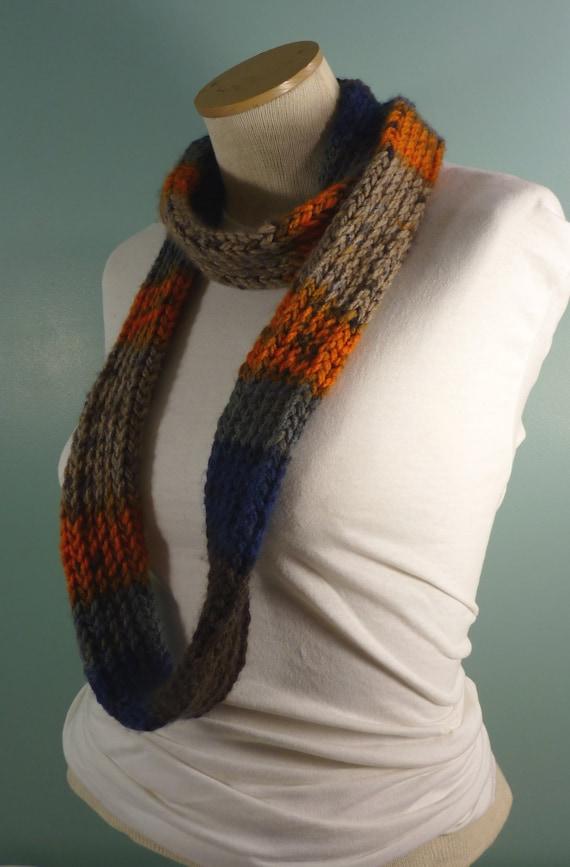 Sport-Team-Schal Blau Orange und grau Schal stricken Schal | Etsy