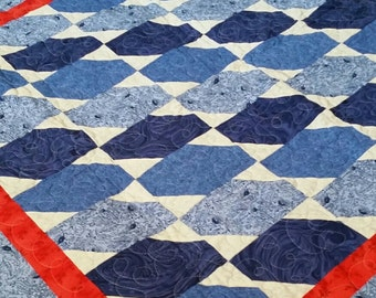 Red, white and blue all over quilt