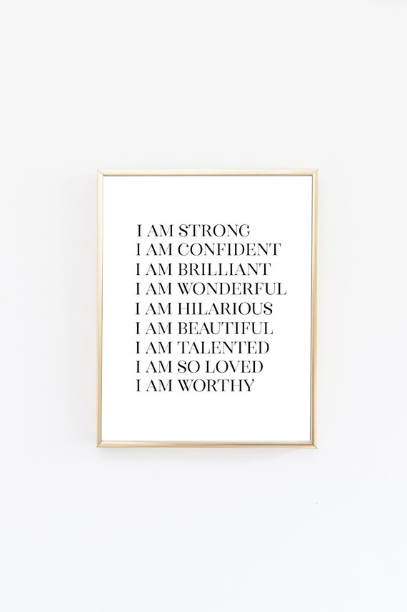 Inspirational Quotes - Teen Bedroom Decor - Boys Room - Girls Room - Quote  Prints - Affirmations - Minimalist Print - Self Love