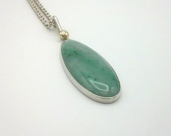 Jadeite Pendant with Gold