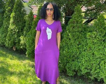 Electric Jungle Sleeveless scoop neck Bodycon Midi Dress Dominica BORN