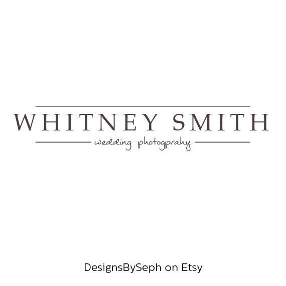 Pre Made Logo Design Photography Watermark Template