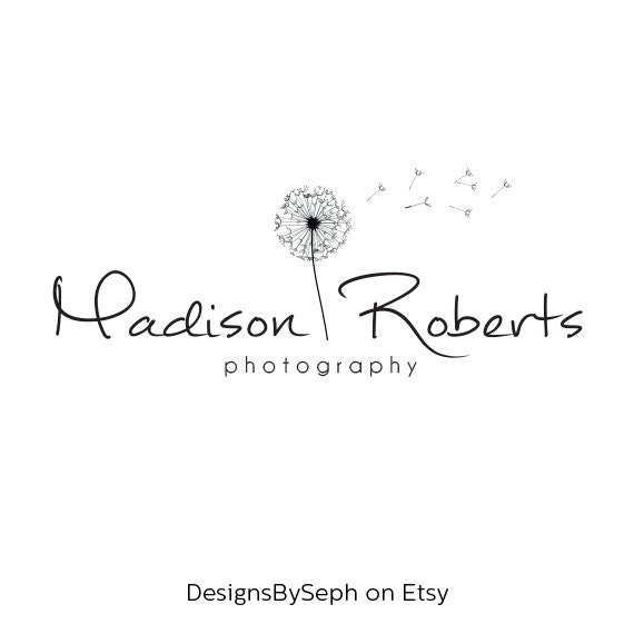 premade logo design photography watermark logo template etsy
