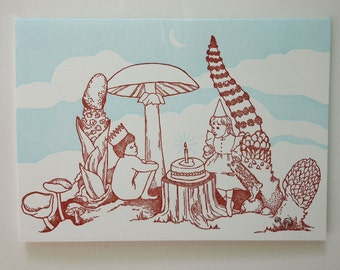 "Letterpress Card, ""The Cake"""