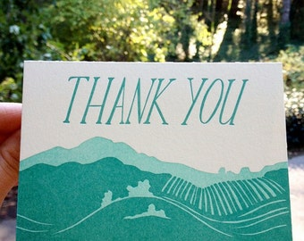 Letterpress Valley Thank You Card