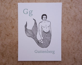 Letterpress Guttenberg Print