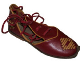 Genuine Leather HandMade Organic Shoes Green . All shoes numbers is available for women
