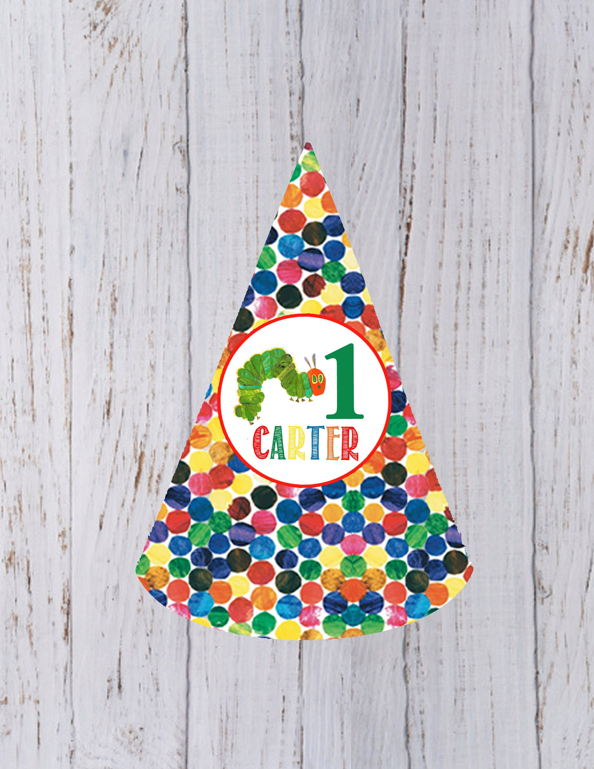 Very Hungry Caterpillar Birthday Party Hat
