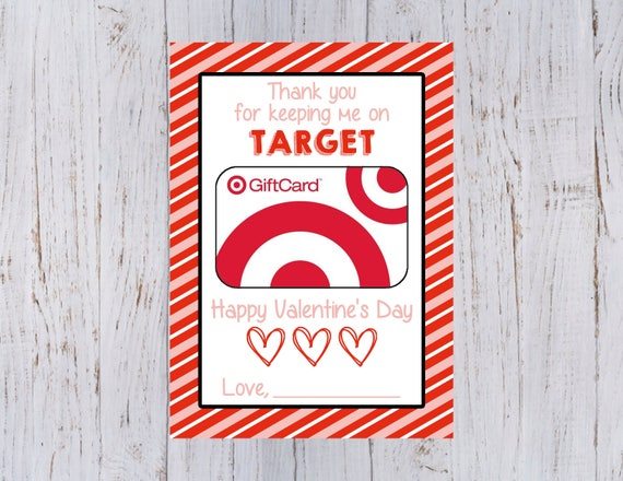 image regarding Printable Target Gift Card named Lecturers Valentines Working day Printable Present Card Holder for Concentration Reward Card 5x7