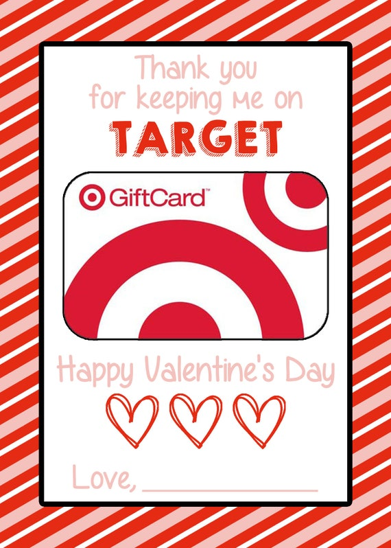 picture regarding Printable Target Gift Card referred to as Instructors Valentines Working day Printable Reward Card Holder for Emphasis Present Card 5x7