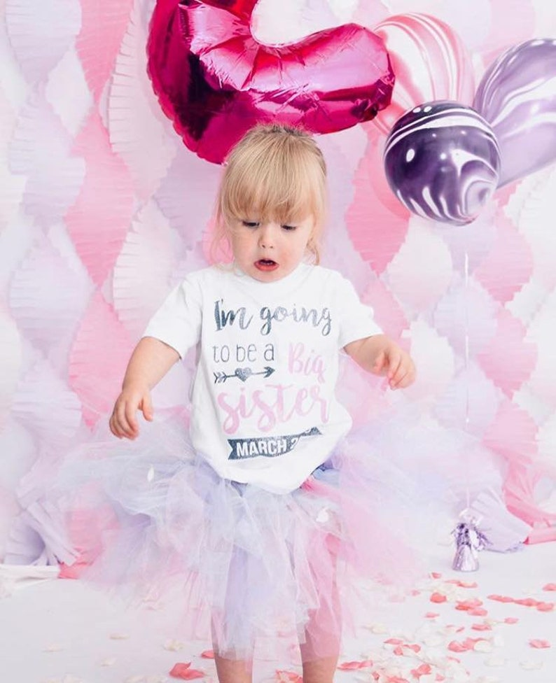 Girls I/'m Going To Be A Big Sister Vest T-shirt Top Announcement