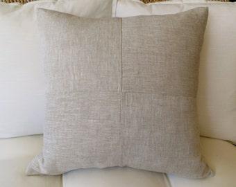 Linen Pillow Cover, 18x18 inch, 20 x 20 inch, Modern Pillow Cover, Solid Pillow Cover, Decorative Pillow, Minimalist Pillow, Tan Pillow