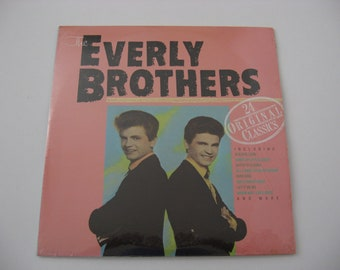 NEW - Factory Sealed - The Everly Brothers - 24 Original Classics  - Double Album Set - Circa 1984