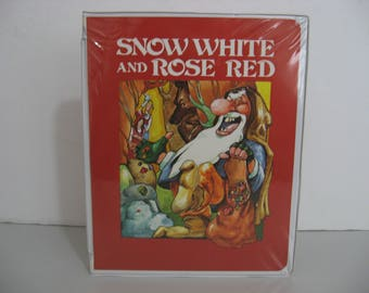Rare! Snow White and Rose Red - Cassette and Story Book - Circa 1983  (Cassette)