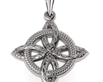 Celtic Star Necklace The protective amulet Quadrifoil  Celtic Knot Jewelry 925 Sterling Silver