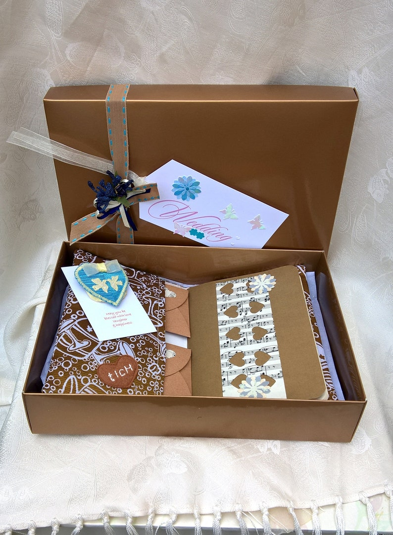 Good Luck Bride Memento Box Something Blue Bouquet Pin and image 0