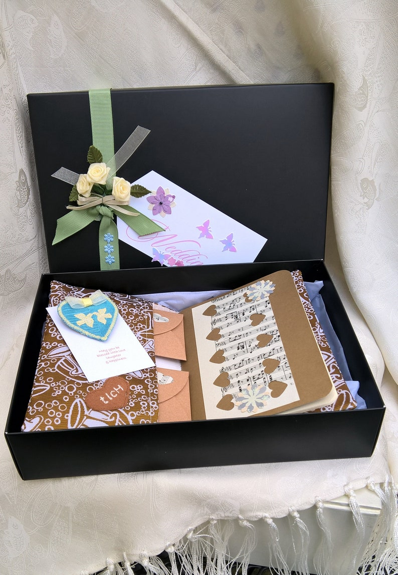 Bride Memento Box Soon to be Journal and Something Blue image 0