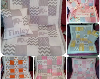 Personalised Patchwork cot quilts