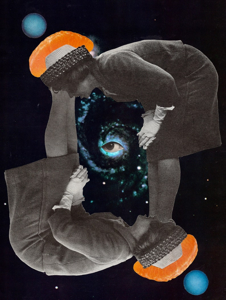 Original Mixed Media Collage Art Dead And Switching