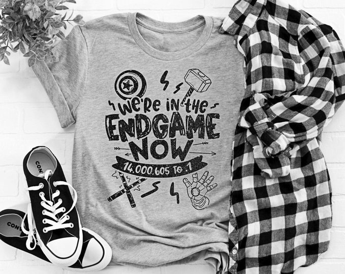 Featured listing image: We're in the Endgame Now Glitter Tee - Various Shirt Styles to Choose