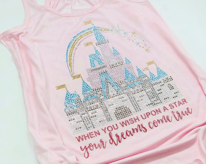 Featured listing image: Dreamers Castle - Rhinestone Shirt - Many Styles to Choose From - Sizes for toddlers to adults