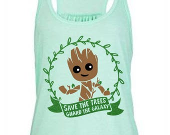 384a047fb1715 Save the Trees Guard the Galaxy Glitter Tee