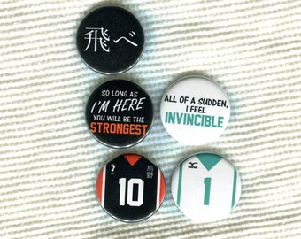 "1.25"" Haikyuu!! quote Pinback Button"
