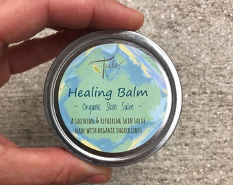 Healing Balm ..Dry Skin, Sunburn, Rash, & Eczema (Organic) Soothing Treatment