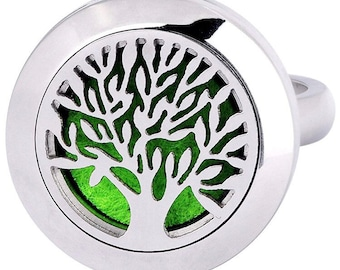 Aromatherapy Essential Oil Diffuser Ring Locket
