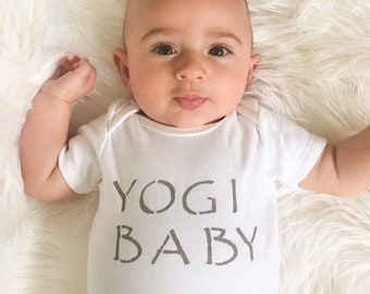 Baby Bodysuit / Organic Cotton / Yogi Baby