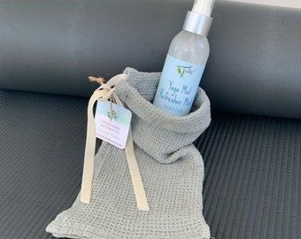 Yoga Mat Refresher with Travel Cleaning Towel Pouch