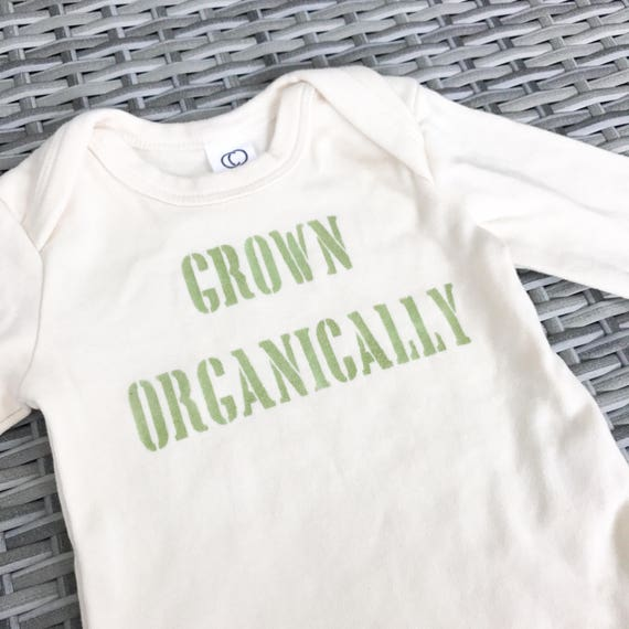 Baby Onesie / Organic Cotton / Hand Printed / Grown Organically