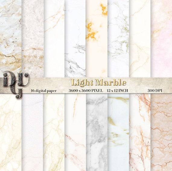 Carta Digitale Marmo Bianco Con Venature Dorate Alta Etsy