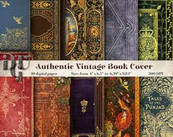 Decorative Book Cover Journal Pages Printable Vintage book Cover Book Digital Paper Antique Book Cover Decorative Book journal supplies