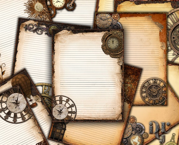 Steampunk Art Printable Journal Pages