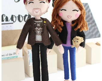 Selfie Doll Personalised gift for her, Gift for Woman, Gift for Man with Closed Eyes Anniversary gifts Personalized gifts Personalised doll