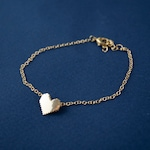 Gold Pixel Heart Bracelet & Earrings Set