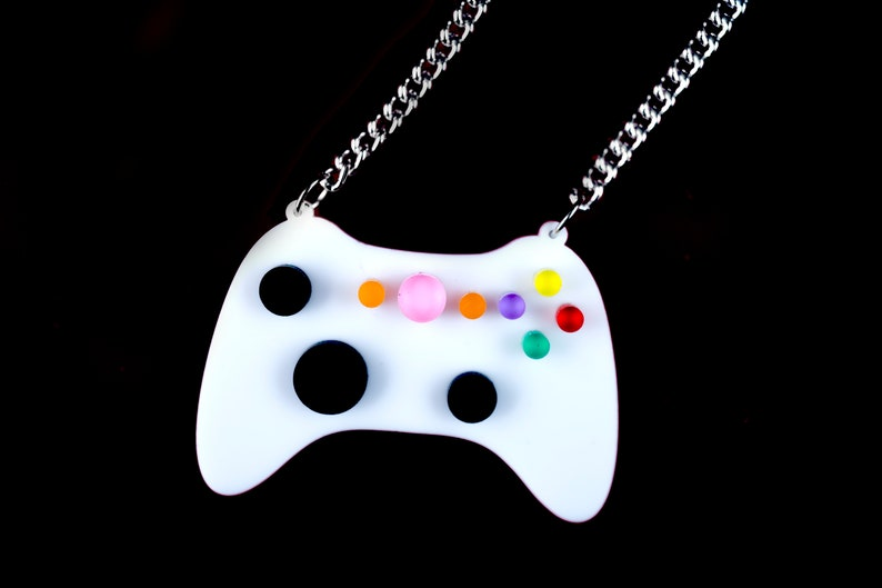 Video Game Necklace Xbox Novelty Pendant Gamer Statement image 0