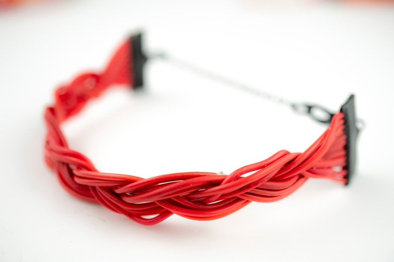 Red Computer Wire Bracelet Computer Geek Gift Tech image 0