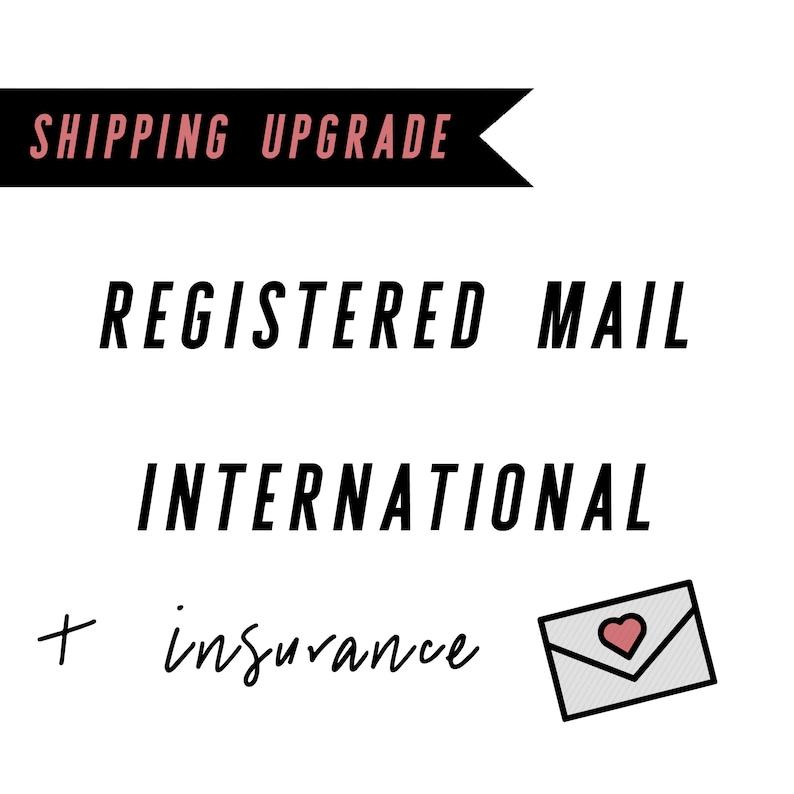 Shipping Upgrade  Registered Mail International  Order image 0