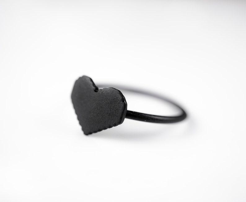 8bit Pixel Heart Ring Retro Gamer Jewelry Legend of Zelda image 0