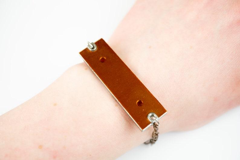 Upcycled Bracelet Statement Bracelet Computer Bracelet image 0